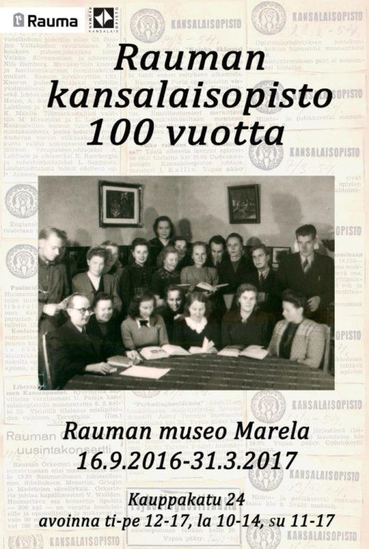 Kansalaisopiston 100-vuotisnäyttelyjuliste