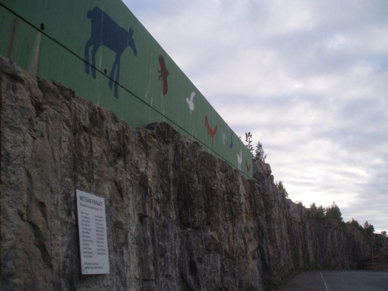 Rauman Kuvataidekoulun oppilaiden Metsän paraati teos valmiina