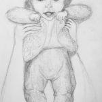 Luova piirustus Pikkuinen vauva