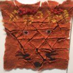 huovutettu seinätekstiili kettu