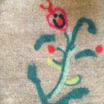 neulahuovutus ja villapeiton tuunaus kukka