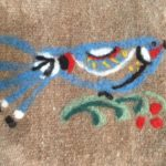 neulahuovutus ja villapeiton tuunaus lintu
