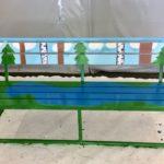 Rauman kuvataidekoulu 2018 taidepenkki valmiina Wihertoimen ulkovarastossa