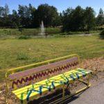 Rauman kuvataidekoulu 2018 taidepenkki Steniuksen puistossa