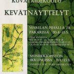 Rauman kuvataidekoulu 2018 kevätnäyttelyjuliste