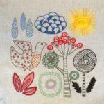 Salainen puutarha -malli tyyny 2