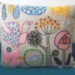 Salainen puutarha -malli tyyny 4