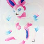 Draguel (Nita), Pinkki fantasiakettu (Pokemon Sylveon) puuväreillä
