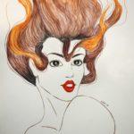 Elliot, Vedenalainen nainen akvarelleilla
