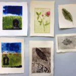 Merjan vedoksia viikonlopun kurssilta Maalauksellista taidegrafiikkaa