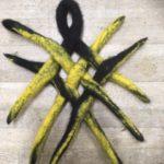 Musta-keltainen pannunalunen, huopapitsi