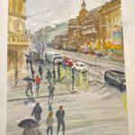 Orvo Uusitalon akvarelli Mansku