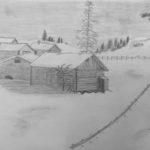 Ossi, Talvinäkymä lyijykynällä
