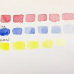 Kalligrafian värikurssi väri ja valööri tummasta vaaleaan