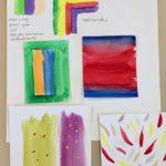 Kalligrafian värikurssi väriharmoniat