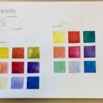 Kalligrafian värikurssi värikartta