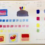 Kalligrafian värikurssi värin taittaminen