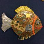 Lapin keramiikka, värikäs kala