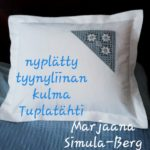 Nyplätty tyynyliinan kulma Tuplatähti