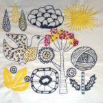 Salainen puutarha -malli, tyyny 1