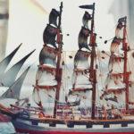 Sylfid-laivan pienoismalli Marelassa, Rauman museo