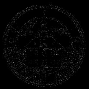 Rauman museon logo.
