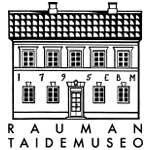 Kuva: Rauman taidemuseon logo, musta