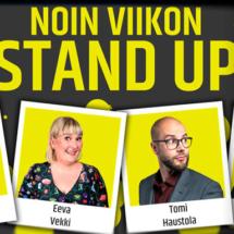 Noin viikon stand-up-kiertueen mainoskuva.