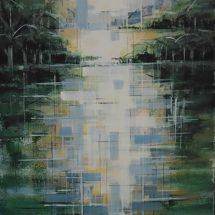 Pentti Peuran maalaus Aurinko nousee.