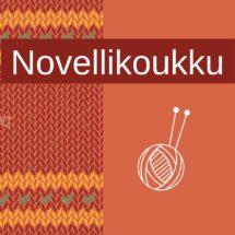 Novellikouku-logo oranssilla pohjalla.