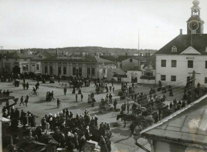Rauman kauppatori, 1910-luvulla