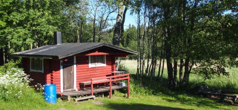 Rohelan saunarakennus kesällä
