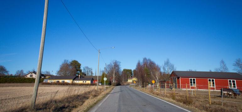 Vasarainen, asuinalue maantieltä kuvattuna