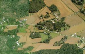 Viistoilmakuva Nihattulan asuinalueesta