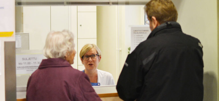 Sosiaali- ja terveyspalvelut, ilmoittautuminen sairaalaan