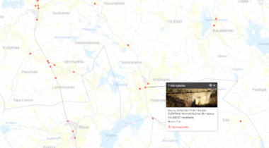 Kodisjoki kyläsilta kartalla