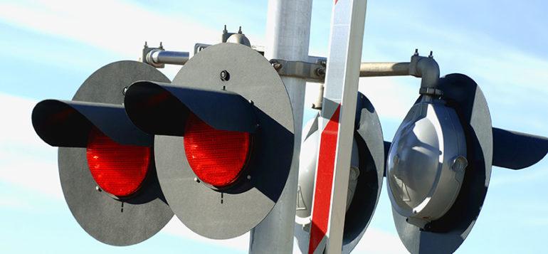junaliikenteen tasoristeyksen puomivalot