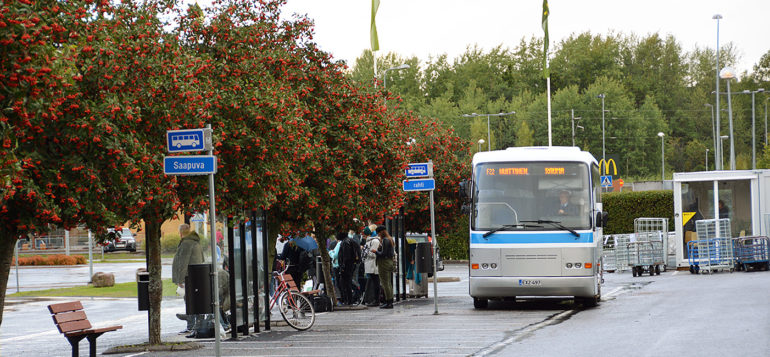 tilapäinen linja-autoasema