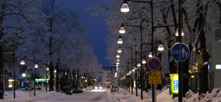Kuva: Valtakatu talvella