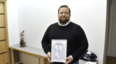 Innovaatiokilpailun voittaja Iiro Lindborg