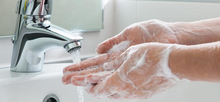 Kuvituskuva: käsien pesu