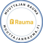 Muuttajan Rauma, muuttajanrauma.fi -tarra.