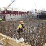 Karin kampuksen rakennustyömaa syyskuussa 2021.